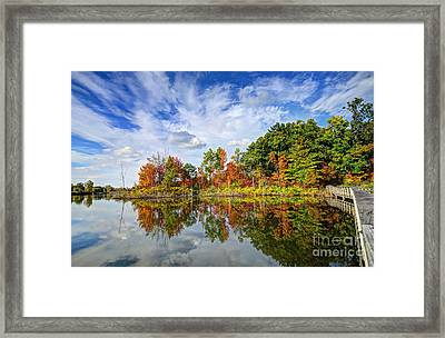 Autumn Sky Framed Print by Rodney Campbell