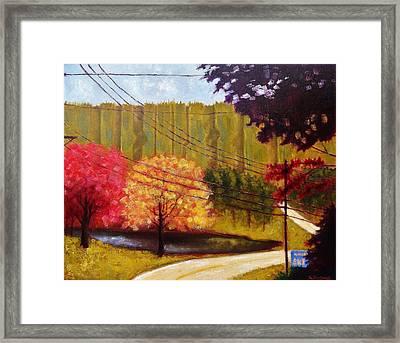 Autumn Slopes Framed Print