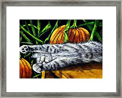 Autumn Slumber Framed Print by Monique Morin Matson