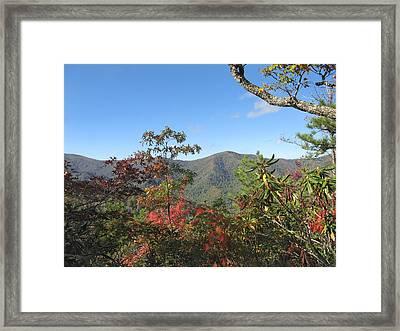 Autumn Smoky Mountains Framed Print by Melinda Fawver