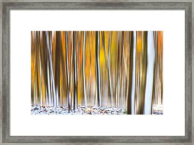 Framed Print featuring the photograph Autumn Snow Dream by Carl Amoth