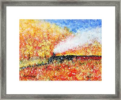Autumn Snow Framed Print by Kume Bryant