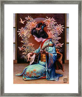 Framed Print featuring the painting Autumn Song by Jane Bucci