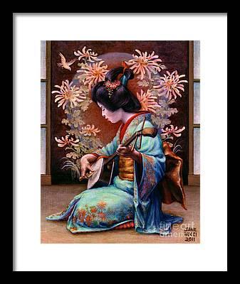Kimono Framed Prints