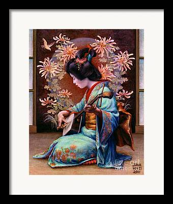 Chrysanthemums Framed Prints