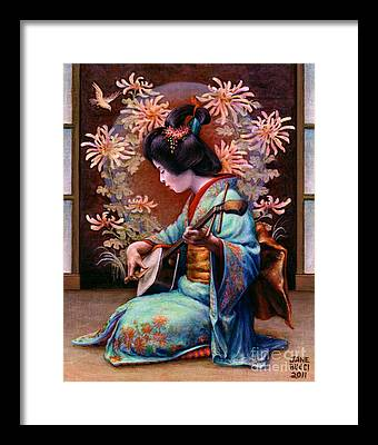 Asian Woman Framed Prints
