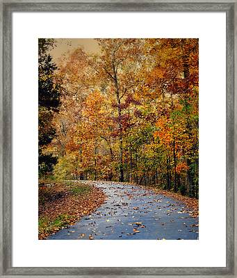 Autumn Splash - Fall Landscape Framed Print by Jai Johnson