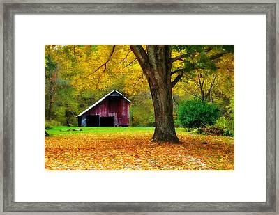 Autumn Splendor In West Virginia Framed Print by Chastity Hoff