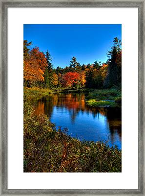 Autumn Splendor On The Moose River Framed Print by David Patterson