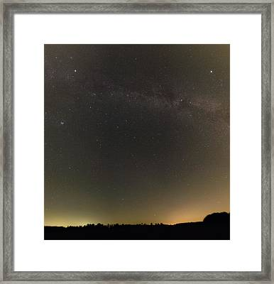 Autumn Stars And Light Pollution Framed Print by Eckhard Slawik