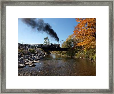 Autumn Steam Framed Print