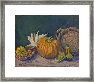 Autumn Still Life Framed Print by Diane McClary