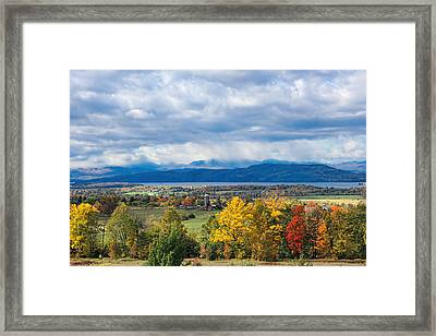 Autumn Storm Approaching Framed Print by William Alexander