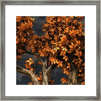 Autumn Storm Framed Print by Cynthia Decker