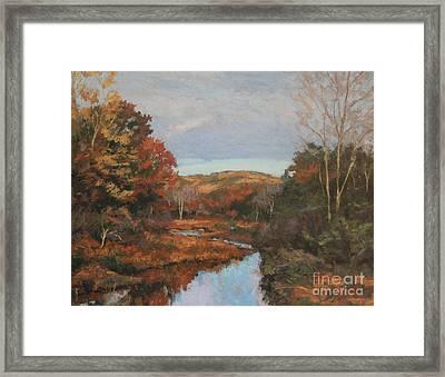 Autumn Stream Framed Print by Gregory Arnett