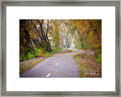 Framed Print featuring the photograph Autumn Stroll by Kari Yearous