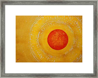 Autumn Sun Original Painting Framed Print by Sol Luckman