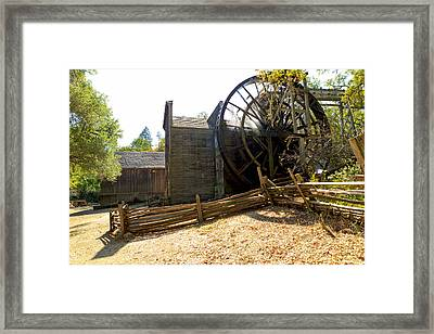 Autumn Sun Shining On The Old Bale Mill Framed Print by Patricia Sanders