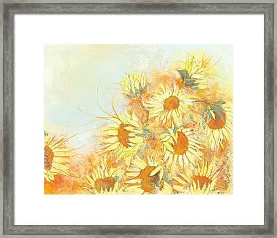 Autumn Sunflowers Framed Print by Priscilla  Jo