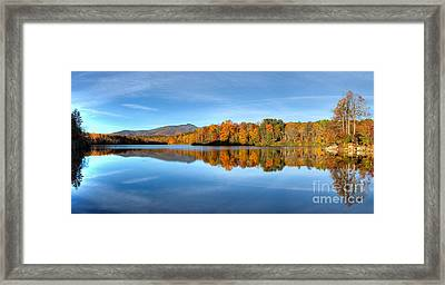 Autumn Sunrise At Price Lake Framed Print by Dan Carmichael