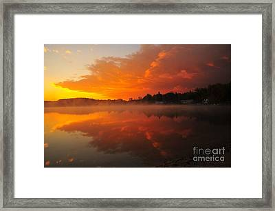 Autumn Sunrise At Stoneledge Lake Framed Print