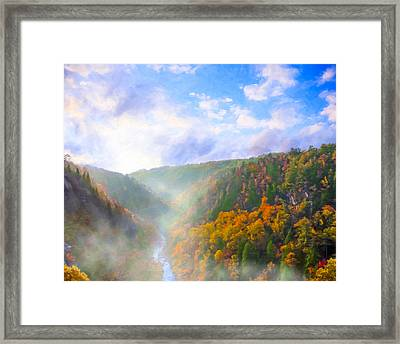 Autumn Sunrise In Tallulah Gorge Framed Print