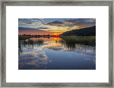 Autumn Sunrise Framed Print by Mike Lang