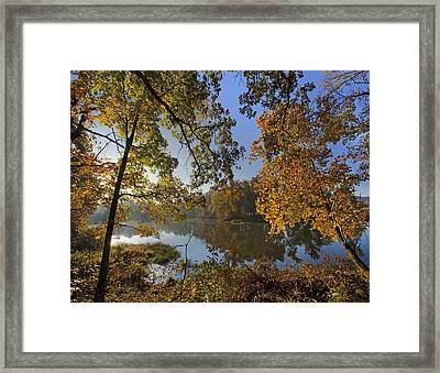 Autumn Sunrise On Lake Sequoyah Arkansas Framed Print by Tim Fitzharris