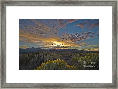 Autumn Sunset Framed Print by Dianne Phelps