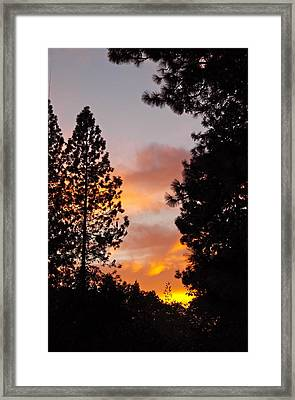 Autumn Sunset Framed Print by Michele Myers