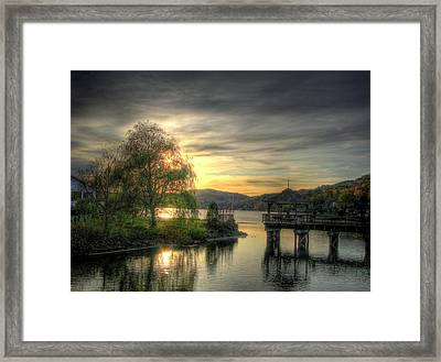 Autumn Sunset Framed Print by Nicola Nobile