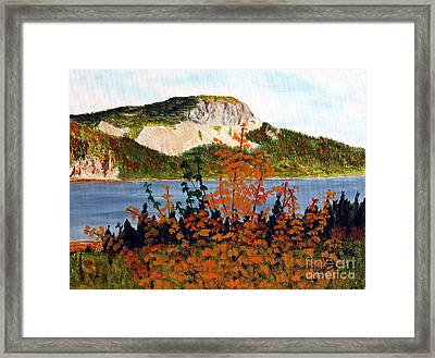 Framed Print featuring the painting Autumn Sunset On The Hills by Barbara Griffin
