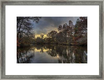 Autumn Sunset On West Brook Pond Framed Print