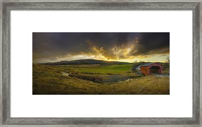 Autumn Sunset Over Meech Creek Framed Print
