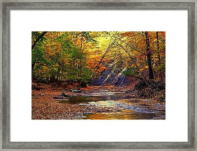 Autumn Sunset Framed Print by Frozen in Time Fine Art Photography