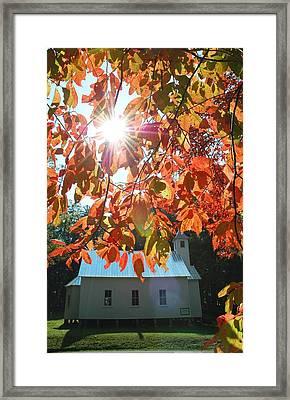 Autumn Sunshine Missionary Baptist Church Framed Print by John Saunders