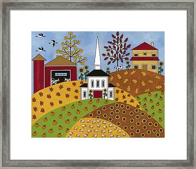 Autumn Tapestry Framed Print by Medana Gabbard