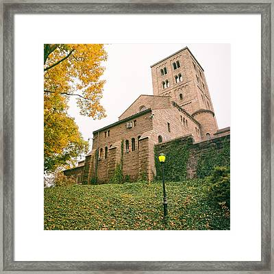 Autumn - The Cloisters - New York City Framed Print by Vivienne Gucwa