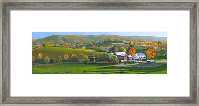 Autumn The Year's Last Loveliest Smile Framed Print by Barb Pennypacker