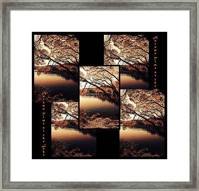 Autumn Time. Collage For Interiors Framed Print