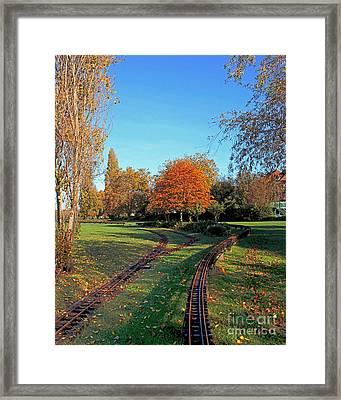 Autumn Tracks Framed Print by Terri Waters