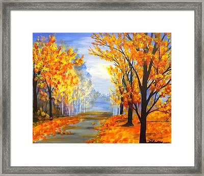 Autumn Trail Framed Print by Darren Robinson