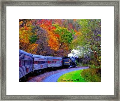 Framed Print featuring the painting Autumn Train by Bruce Nutting