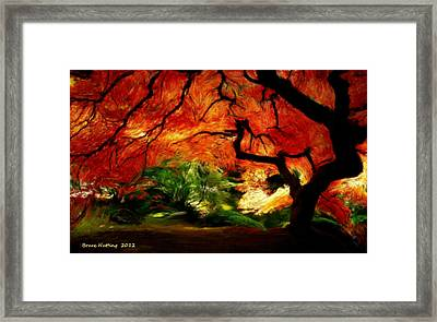 Framed Print featuring the painting Autumn Tree by Bruce Nutting