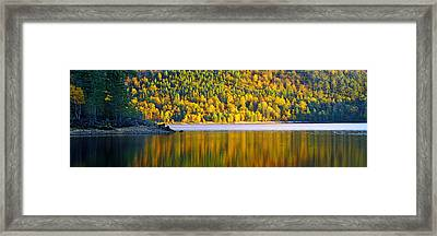 Autumn Trees At Loch Beinn A Mheadhoin Framed Print by Panoramic Images