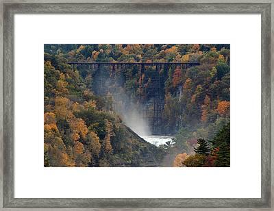Autumn Trestle Framed Print