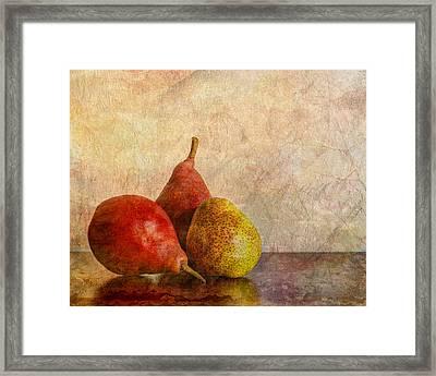 Autumn Trio  II Framed Print by Heidi Smith