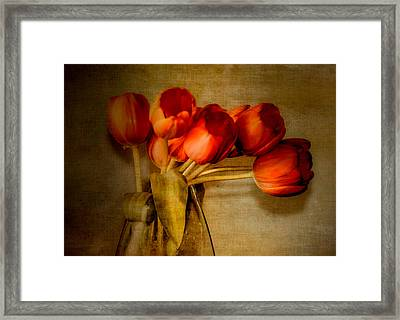 Autumn Tulips Framed Print by Julie Palencia