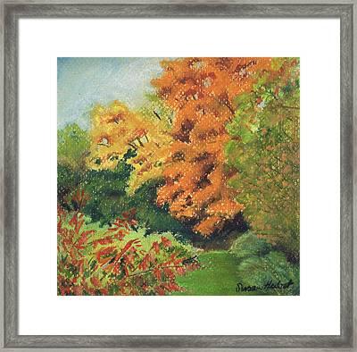 Autumn Uplands Farm Framed Print by Susan Herbst