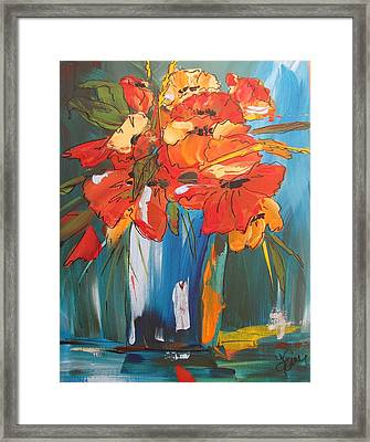 Autumn Vase Framed Print by Terri Einer
